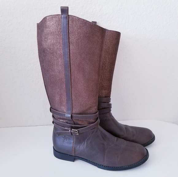 Cole Haan Shoes - Cole Haan Air Nancy Tall Brown Metallic Boot